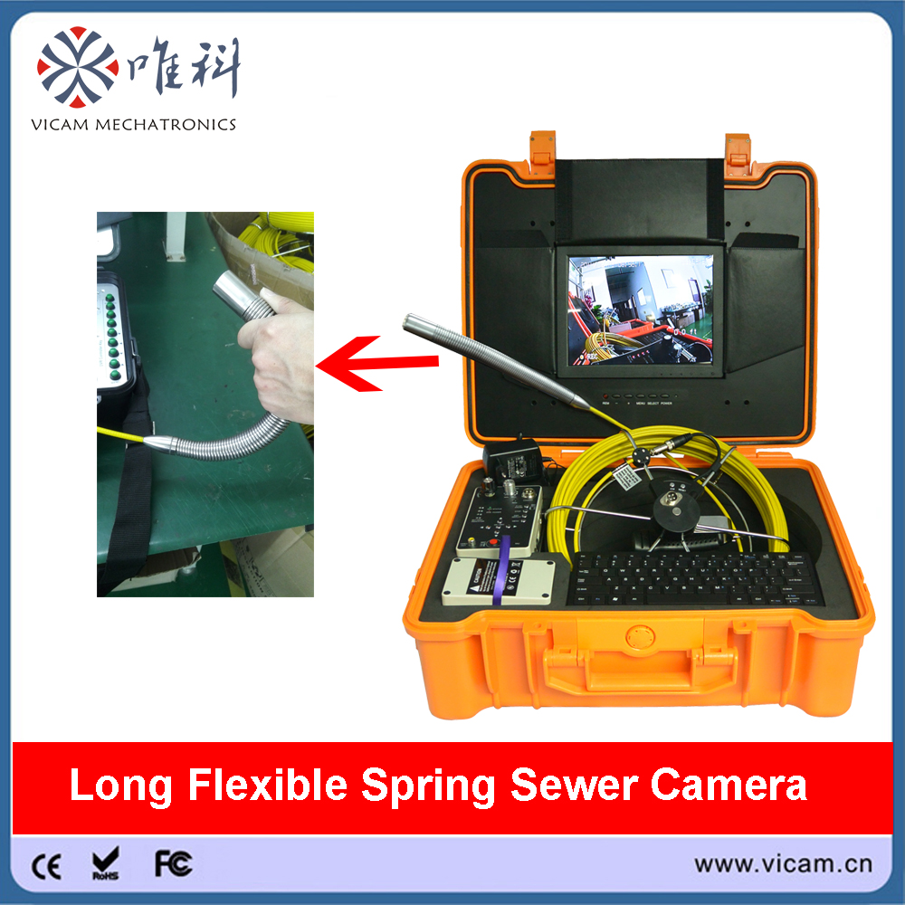 Video Surveillance Vicam 16mm Mini Sewer Video Inspection Camera 30m Cable Push Rod Pipe Camera With Dvr Control Box And Keyboard Function Security & Protection