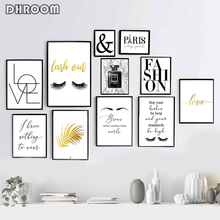 Black and White Gallery Wall Art Fashion Posters Minimalist Print Painting Modern Decoration Paris Picture Living Room Decor