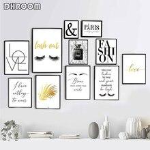 Affiches murales d'art en noir et blanc, peinture imprimée minimaliste, décoration moderne, décor de salon, photo de Paris