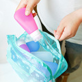 5 color waterproof PVC cosmetic vacuum bag women transparent organizer for Makeup pouch storage compression bags HBG03