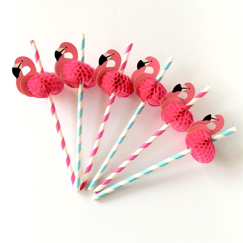 Hot Sale Flamingo Party Straws 10pcsset Reusable Plastic Straws