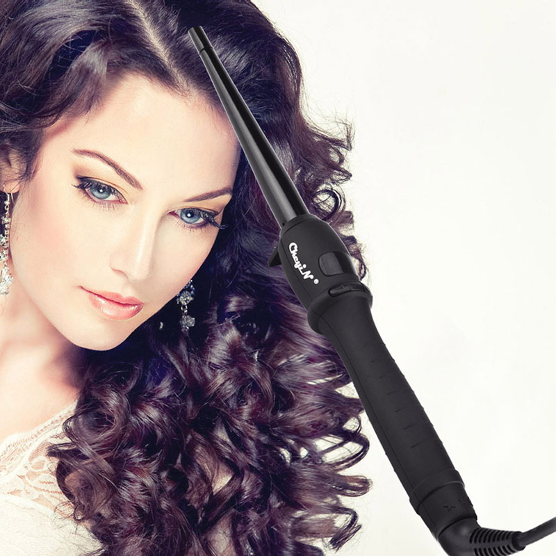 9-19mm Cone Hair Curler Roller Curling Wand Iron Rizador Pelo Curl Escova Rotativa De Cabelo Fer A Boucler Rizadores LCD S3637 electric magic hair styling tool rizador hair curler roller monofunctional spiral curling iron wand curl styler nhc 8558