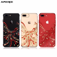 Red Phoenix Hard PC Diamond Case Cover For IPhone 7 6 6s 7 6 6s Plus