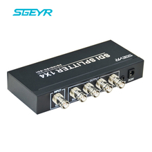 SGEYR 3G SDI 1×4 Splitter with 3.5mm SDI Distributor Amplifier 3G HD SDI Converter 1 input to 4 output SDI Adapter for Camcorder