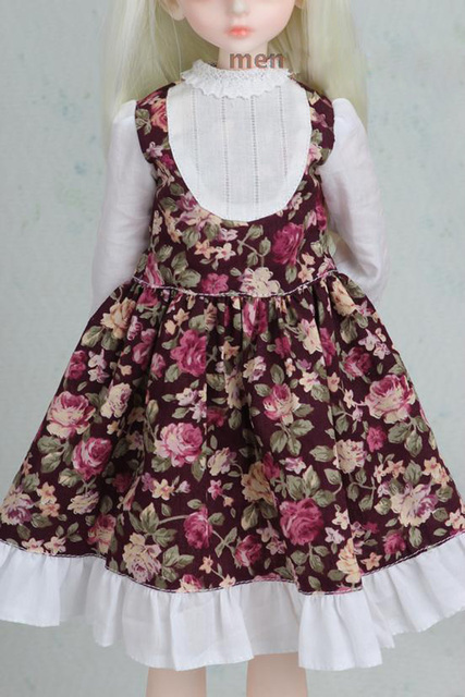 1/3 1/4 1/6 1/8 BJD SD Volks Dod Sooms Ai Doll Clothes Lovely Dress With Butterfly For Girls Doll Dress  3