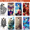 For Asus Zenfone 3 Max Case Cover,Hot Diy UV Painting Colored Tiger Owl Rose Hard PC Case For Asus Zenfone 3 Max ZC520TL Cover