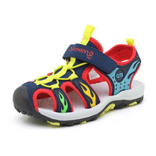 Boys Sandals Baotou Beach Shoes 2019 Summer New Leather Childrens Big Sports