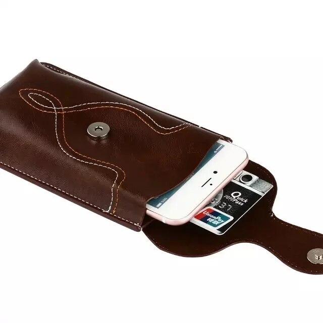 Ունիվերսալ կաշվե իրանի գոտիով - Բջջային հեռախոսի պարագաներ և պահեստամասեր - Լուսանկար 6