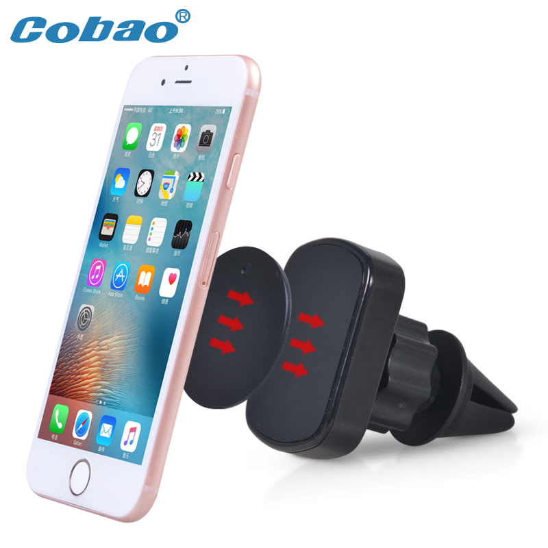 Cobao Magnet Car Phone Holder Magnetic Phone Holder Car Mount Holder Stand For iPhone 7 360 Rotation Mobile Phone Holder Stand