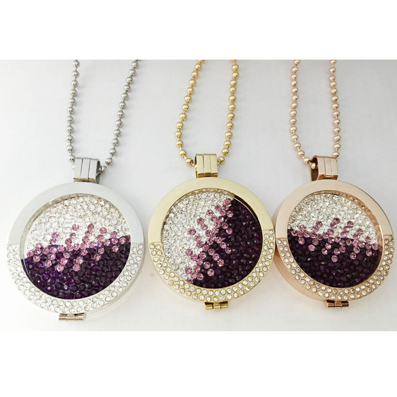 2015 hot selling fashion jewelry mi moneda coin  Deluxe with Crystal Stainless Steel Pendant Locket  Necklaces & Pendants