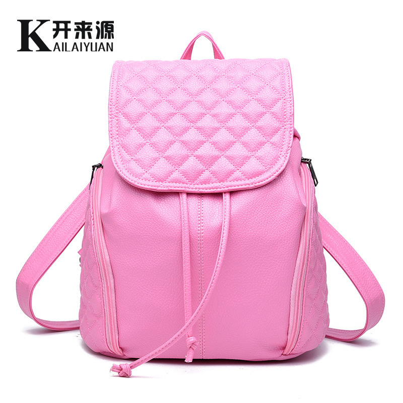 A new type of holographic backpack girl bag shoulder bag color candy holographic Backpack