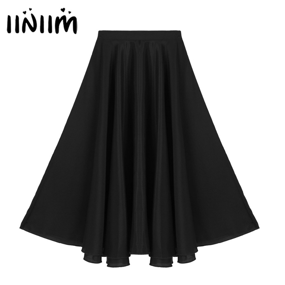 iiniim Kids Leotard Dance Tutu Skirts Girls Long Maxi Full Circle Skirt for Performance Exercise Gymnastics Leotard Dancewear