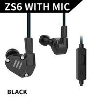 KZ ZS6 Earphone Eight Cell Ring Iron Aluminum Alloy Earphones 3 Colors High Fidelity In Ear