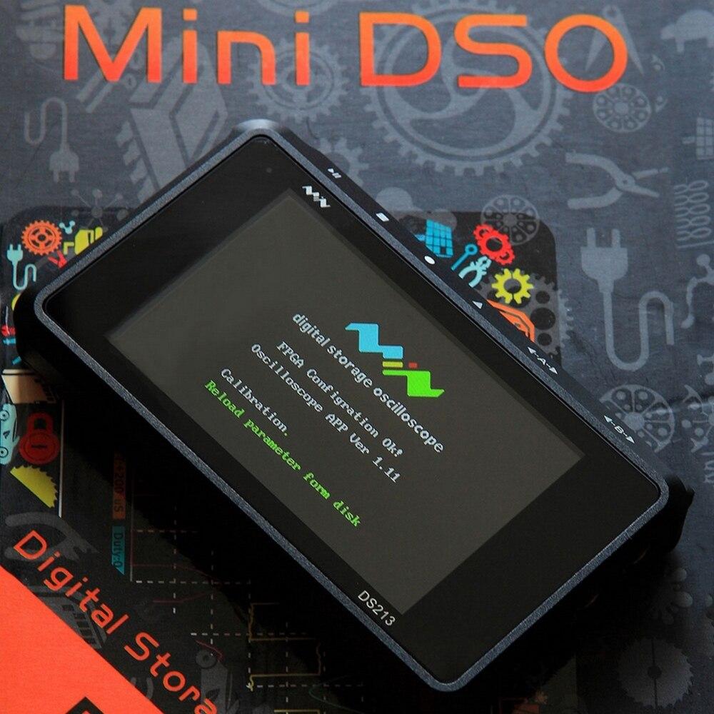 Ds213 osciloscópio digital kit 4 canais dso213 taxa de amostragem mcx 100msa/s 3 polegada tela colorida conjunto osciloscópio armazenamento