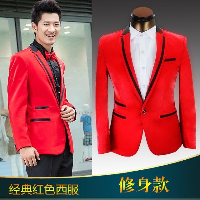 Trajes chaqueta rojos