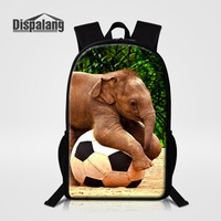 Dispalang Famous Brand Backpack For Women Men Backpacks Elephant Print Children School Bags For Girls Boys