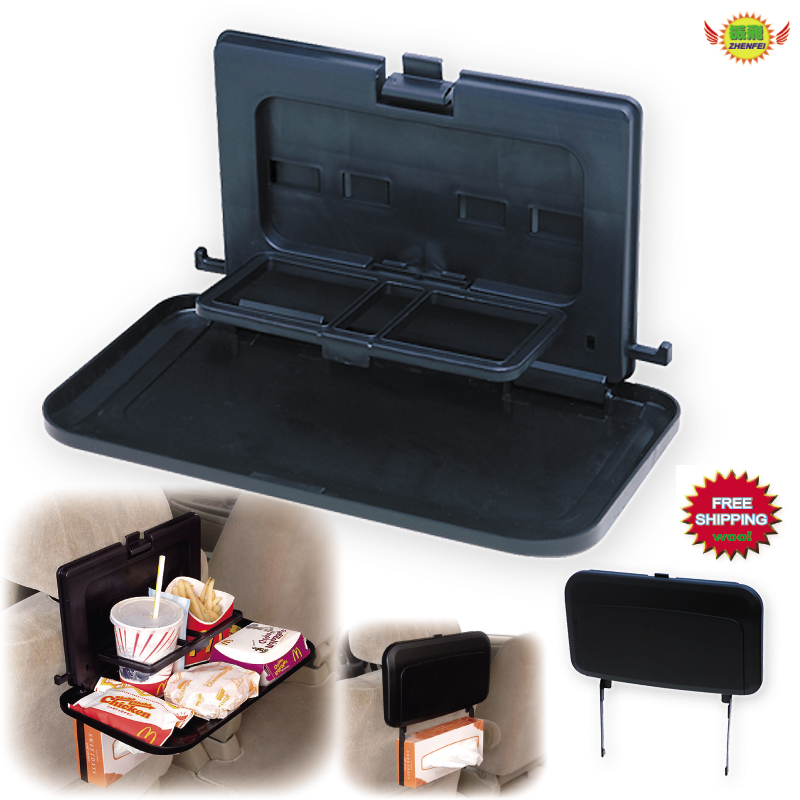 Car accessories seat back storage beverage rack food tray phone holder Tissue box frame car-styling ...