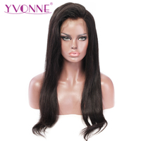 YVONNE Straight Lace Front Human Hair Wigs For Women Virgin Brazilian Wigs With Natural Color