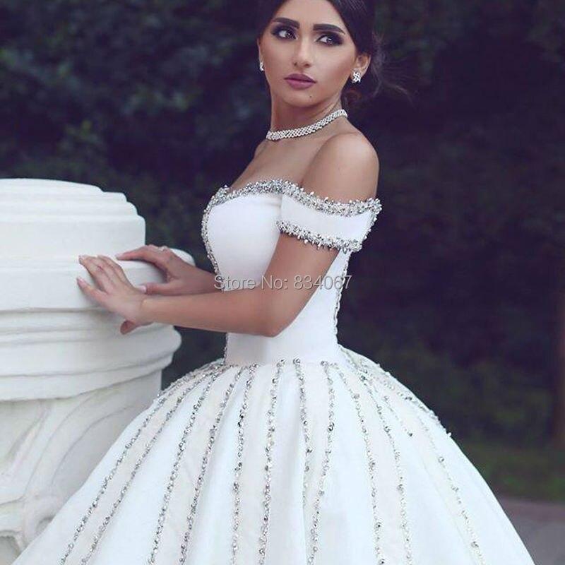 Modest Ball Gown Wedding Dress 2017 Off the Shoulder Cheap Bridal ...