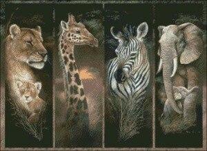 Image 2 - מלאכות רקמת רקמה ערכות תפר צלב נספר 14 ct DMC צבע אמנויות DIY עבודת יד דקור גאווה של אפריקה