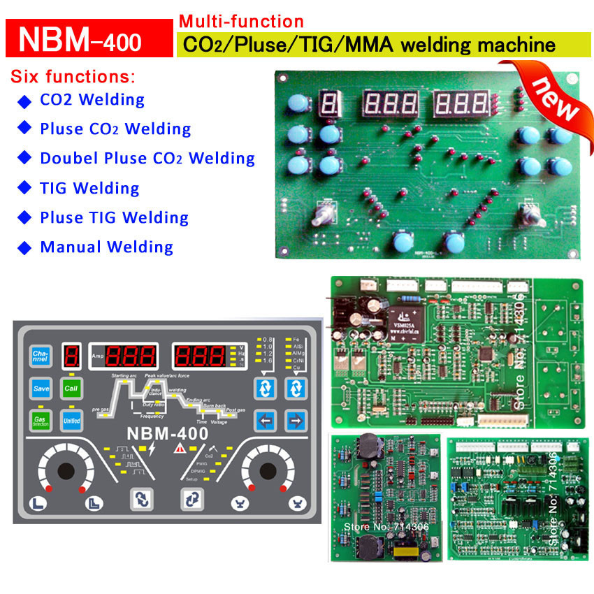 Aletler'ten Uç Kaynakçıları'de Çift darbe CO2 TIG MMA of NBM 500 çok fonksiyonlu kaynak kontrol kartları PCB dört adet set başına