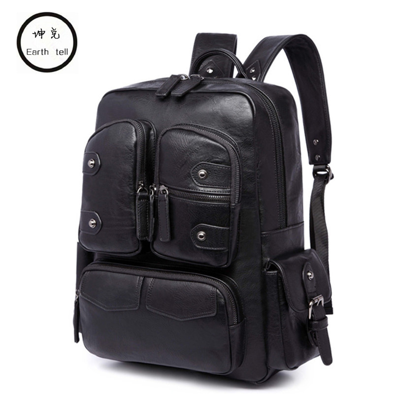 Large Capacity Mens Rivet PU Leather Backpack For Casual Men Daypacks Computer Travle Bag Schoolbag Business Luggage mochila Large Capacity Mens Rivet PU Leather Backpack For Casual Men Daypacks Computer Travle Bag Schoolbag Business Luggage mochila