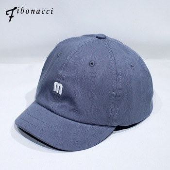 цена на Fibonacci High Quality M Letter Baseball Cap 100% Cotton Outdoor Short Brim Snapback Fashion Sports Hats For Men Women Cap