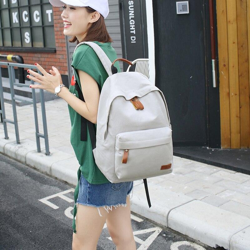 fashion women travel backpacks canvas gril green schoolbag teenagers girls blue mochilas feminina rucksack female 8color