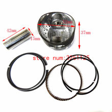 GY6 125cc 152QMI 52 Mm 15 Mm Piston Kit Cincin untuk Tank Roketa Jalon Strada Taotao Perdamaian Moped Skuter ATV go Kart UTV(China)