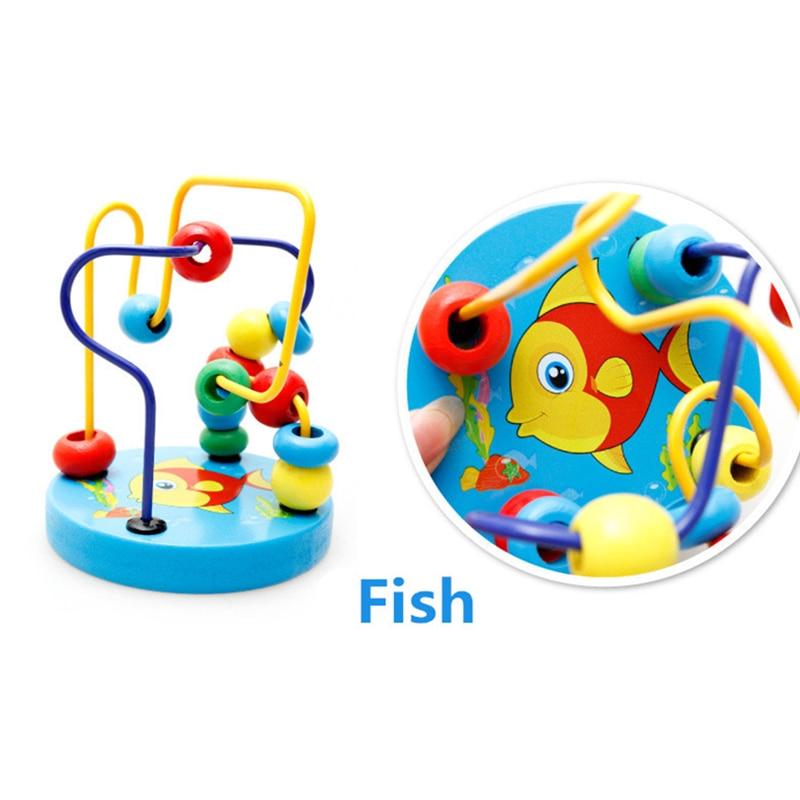 Fargerike Wooden Mini Around Perler Barn Barn Perler Dyreleker Toys - Bygg og teknikk leker - Bilde 4