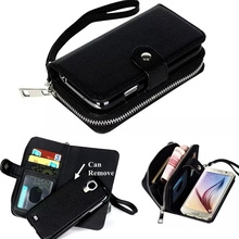 2 in 1 Wallet and Phone Case Fashion Luxury Multifunction Leather Case Cover for Samsung S4 S5 S6 S6Edge
