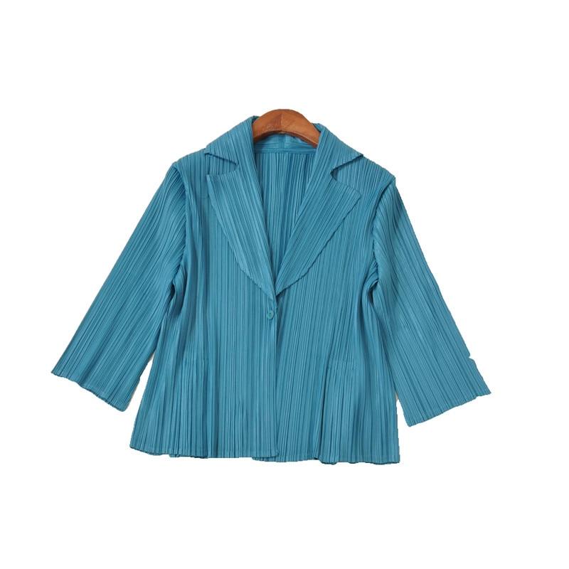 blu New 2018 Il rosso Fold cachi A Delle grigio Corta Donne Pieghe Giacca Nero qSvSwFdZx