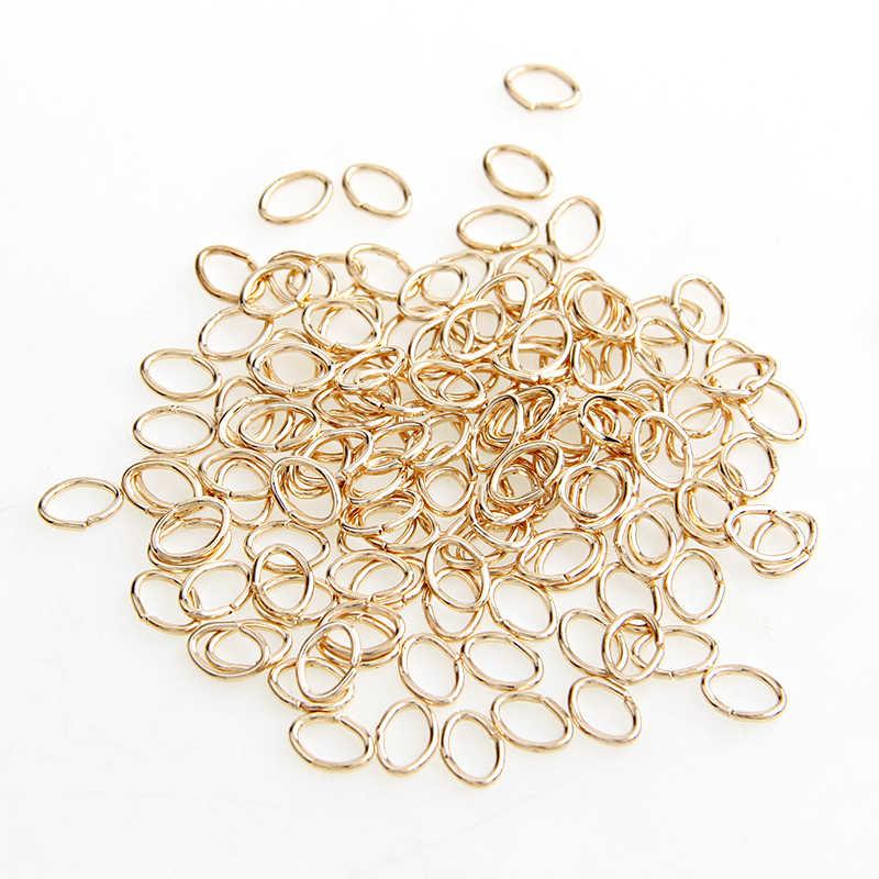 حار بيع روز الذهب لهجة معدنية البيضاوي الحلقات الأخيرة مفتوحة أداة حلقة النتائج مجوهرات ديي صنع قلادة مع إغلاق