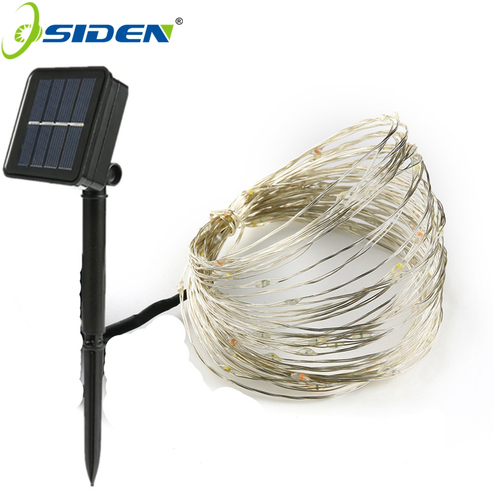 10M 100LED Solar Powered String Lights Copper Wire Outdoor Fairy ...