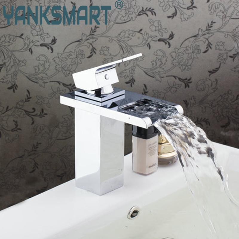 High Qulity Waterfall Spout Hot/Cold Water Basin Tap Bath Kitchen Wash Basin 92428 Single Handle Sink Faucets,Mixers &Taps bathroom basin faucet waterfall spout hot cold water basin tap bath kitchen wash basin single handle sink faucets mixers