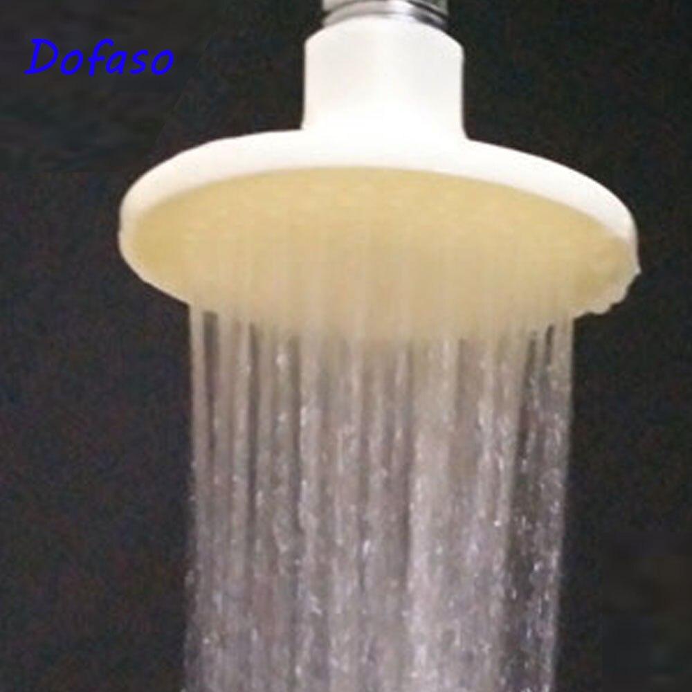 Dofaso ABS Bathroom Shower Head\ Shower Head Small Rainfall Water Save Top Shower Room Head Over Head Ceiling 8cm
