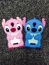 3d silicone case  For Micromax Canvas Spark Q380 Case Cover , soft cartoon cute stitch Case For Micromax Q380 Phone Cover bag