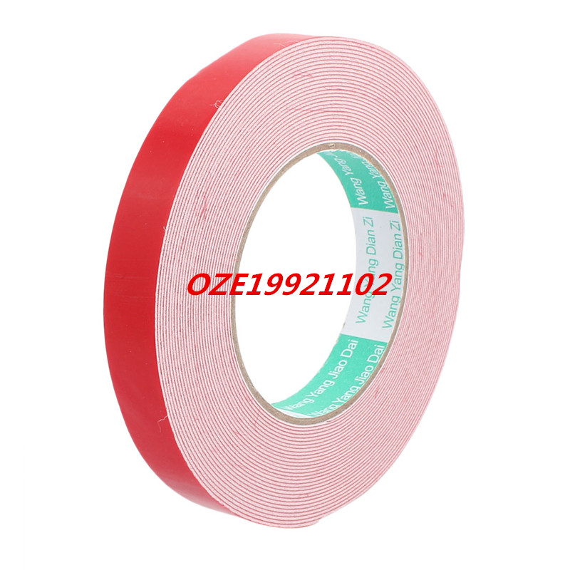 Door Seal 20mmx1mm Dual-side Adhesive Shockproof Sponge Foam Tape 10M Length 1pcs single sided self adhesive shockproof sponge foam tape 2m length 25mm x 6mm