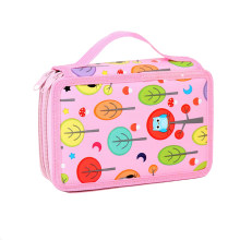 32holes Double Layer Pencil Case Colored Printing Pencil Box Handbag Storage Pen Cases Kawaii Pencilcase School Supplies Etui(China)