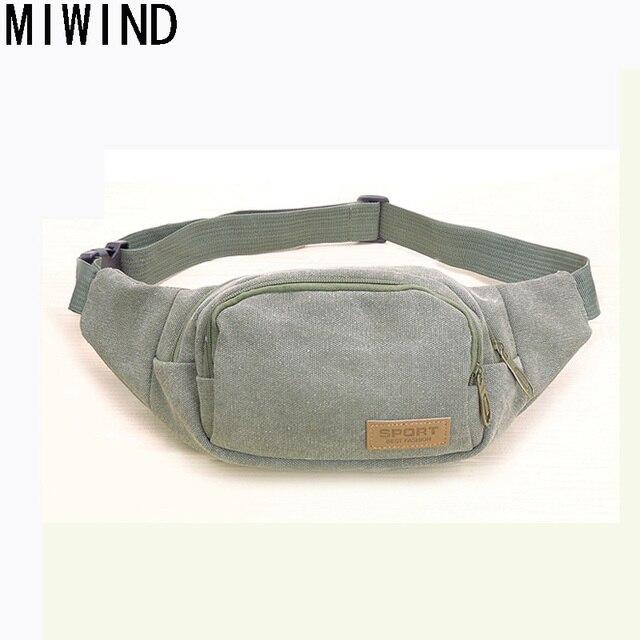 MIWIND Men Waist Packs Bags Unisex Women Canvas fanny pack belt bag Casual  Brand BeltBag Hip Money Handbag Belt TTJ1100 70a46874a
