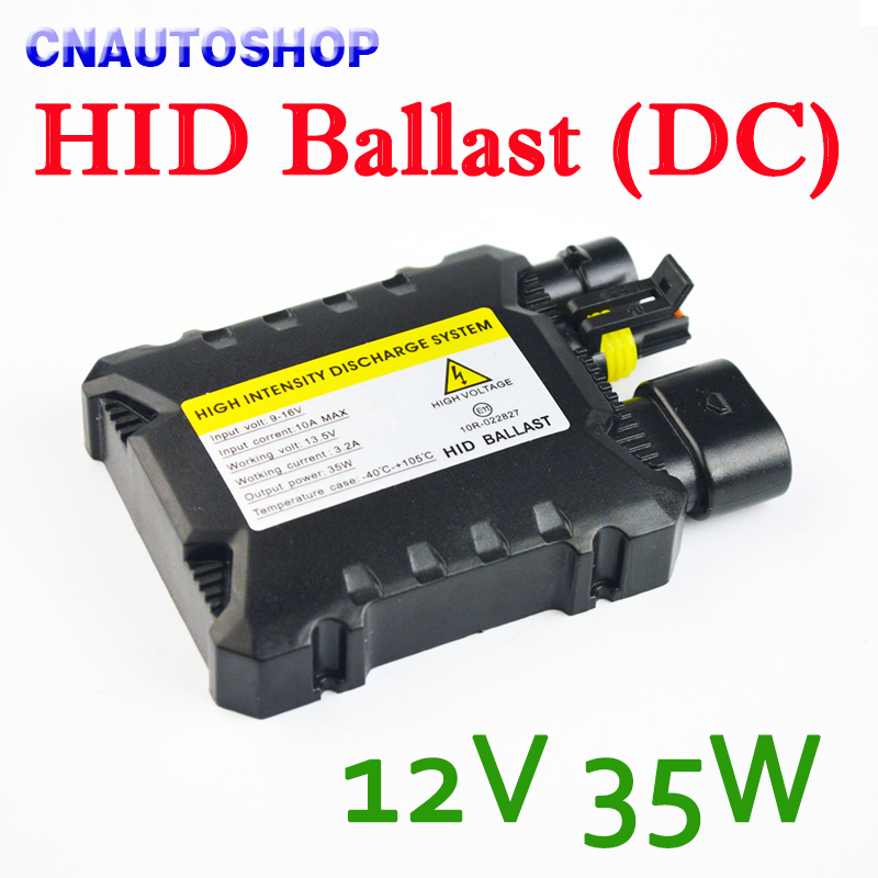High Quality DC HID Ballast Slim 35W Black For XENON Conversion Kit Auto Headlight Lamp Car Replacement Light Bulb 55w silver hid xenon kit slim ballast 880 4300k replacement headlight new [cpa248]