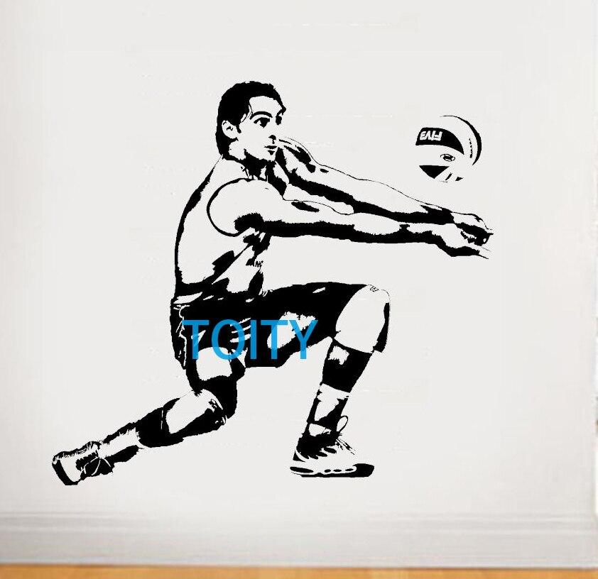 Giba Wandkunst Riesigen Aufkleber Wandvinyl Aufkleber Grafik Decor Brasilien Volleyball Sport Poster Boy Zimmer S M L