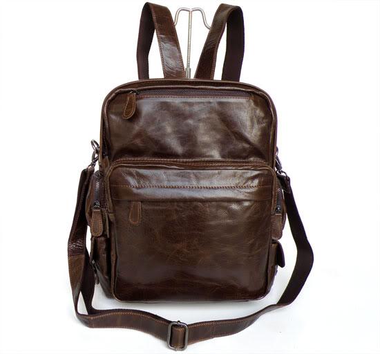 Genuine leather men backpack brand high quality woman backpack vintage cowhide men s travel bag solid