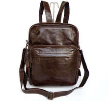 Genuine leather men backpack brand high quality woman backpack vintage cowhide men's travel bag solid duffel bag #MD-J2685