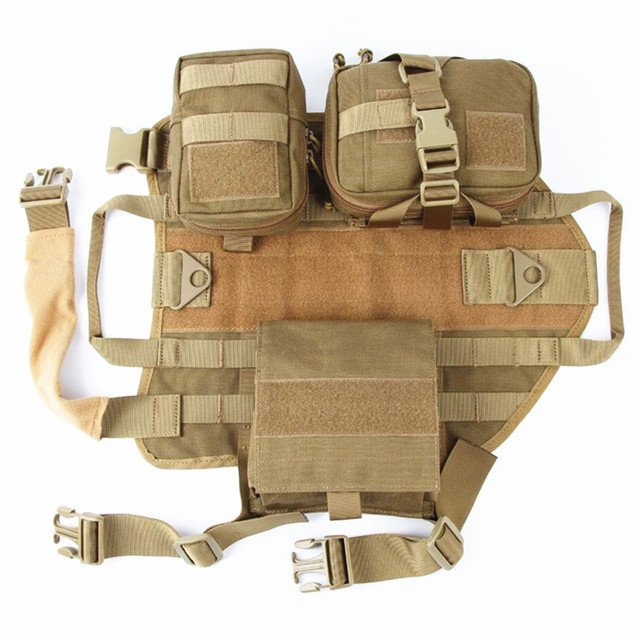 Tactical Dog Harness Vest Hunting Training Combat Molle Vest Outdoor