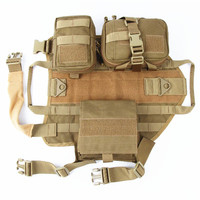 Tactical Dog Harness Vest Hunting Training Combat Molle Vest Outdoor Military Patrol Load Bearing Dog Modular Vest