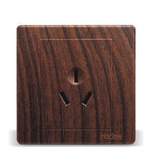 Wall Switch Socket Type 86 Wood Grain Color Air-Conditioning Special Water Heater 3 Hole, PC 220V 16A
