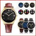 Мужчины Bluetooth Smart Watch C9 Smartwatch Роскошные Кожаные Бизнес Наручные Часы Для Apple Android IOS Телефон Android Samsung WT8023