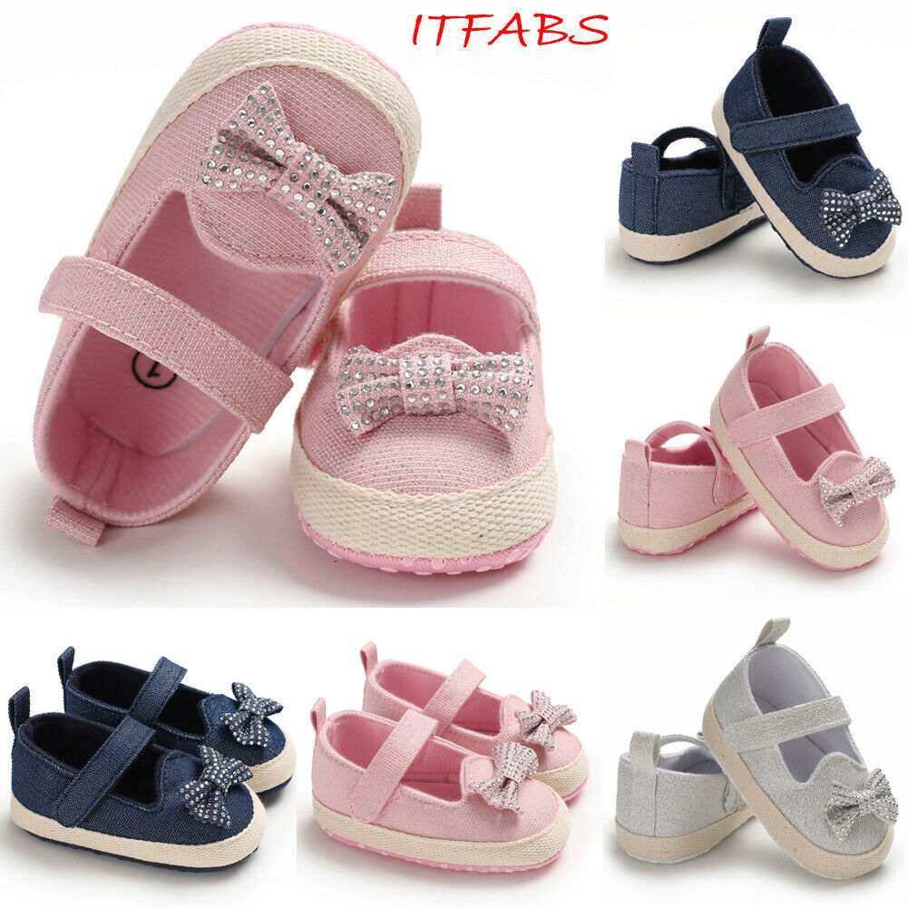 Mini Diamond Baby Shoes Summer Bowknot Solid Color Cute Baby Lace Kids Baby Girls Shoes Princess Non-slip Baby