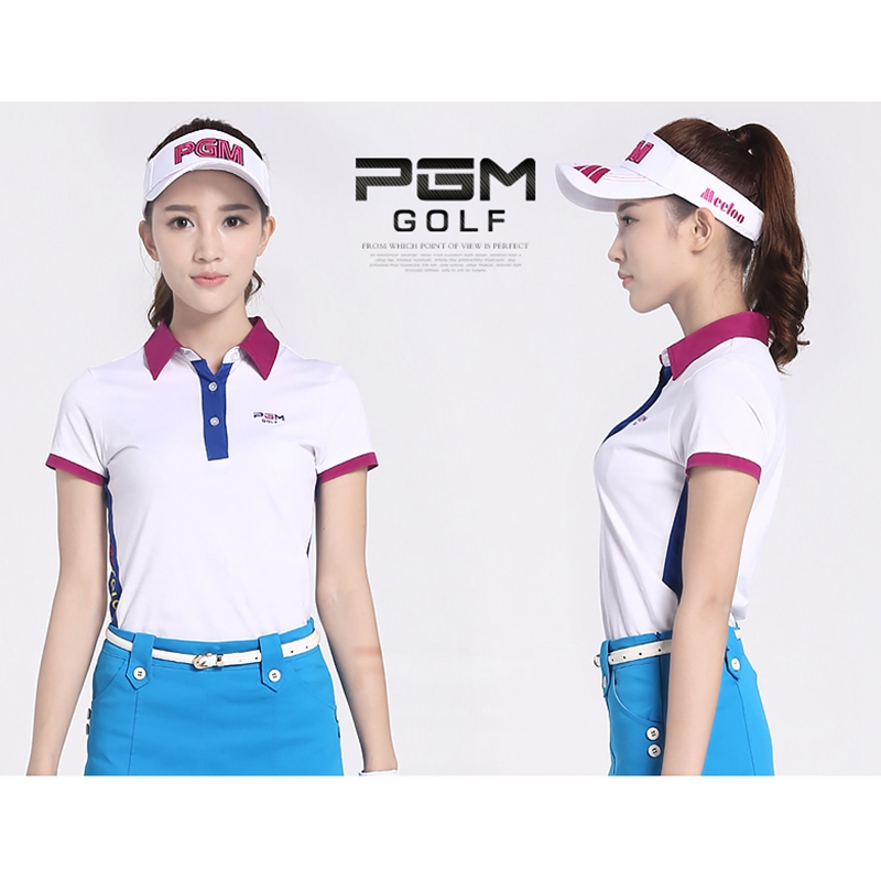 brand PGM font b women s b font golf clothes golf T shirt short sleeve font